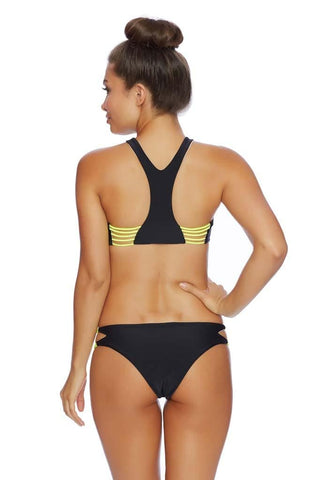 Fire Flame Wave Rider Y Back Sport Bikini Top