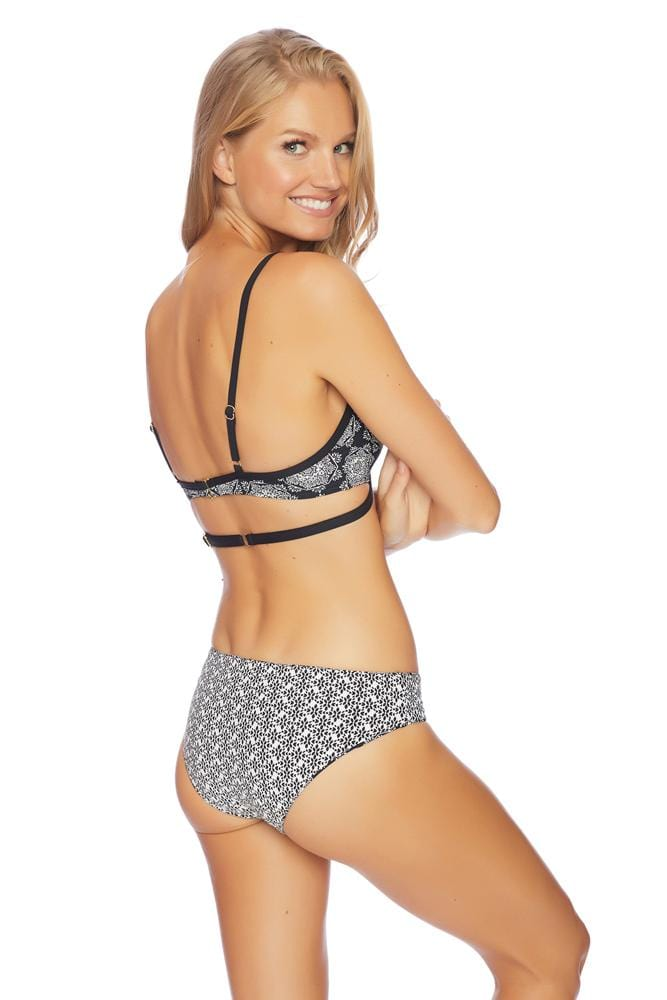 Medallion Melody Reversible Retro Bikini Bottom
