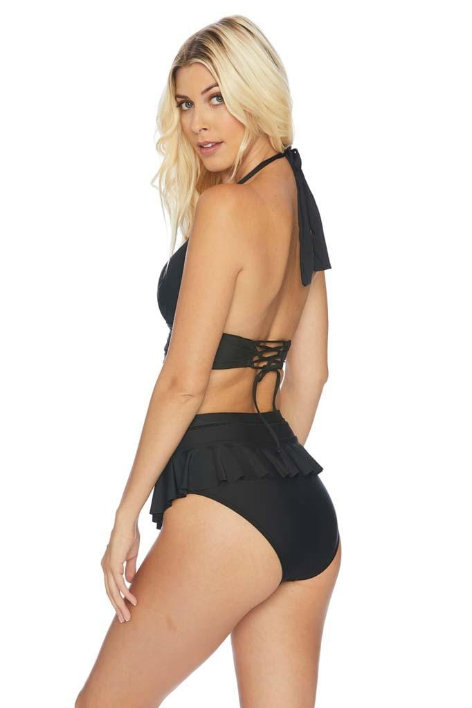 Meshed Up High Waist Bikini Bottom