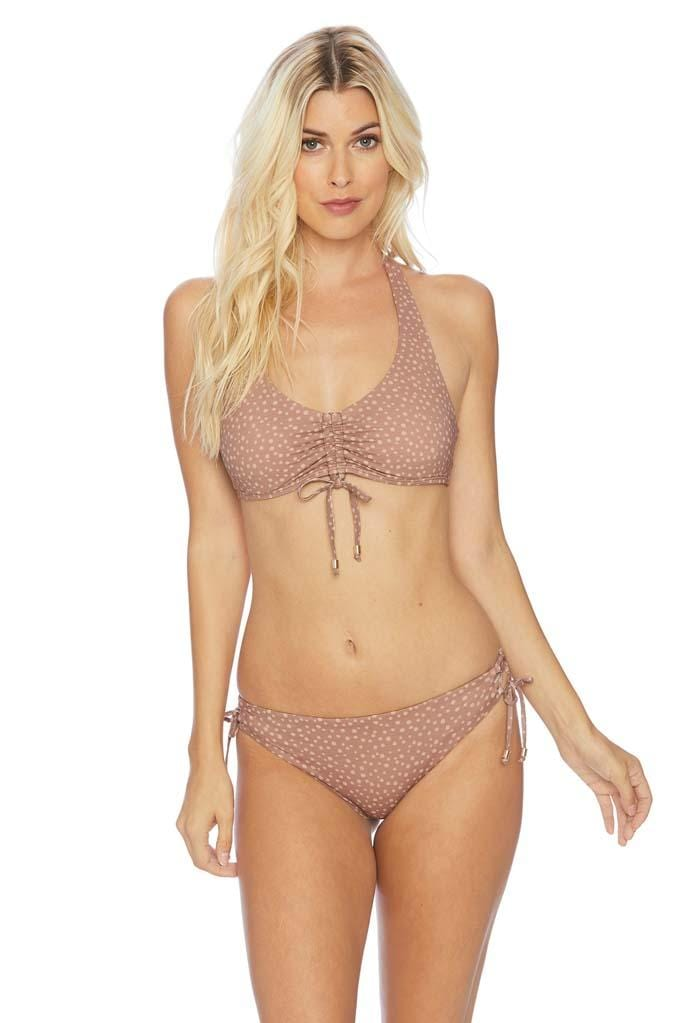 Dashing Dots Lace Up Bikini Bottom