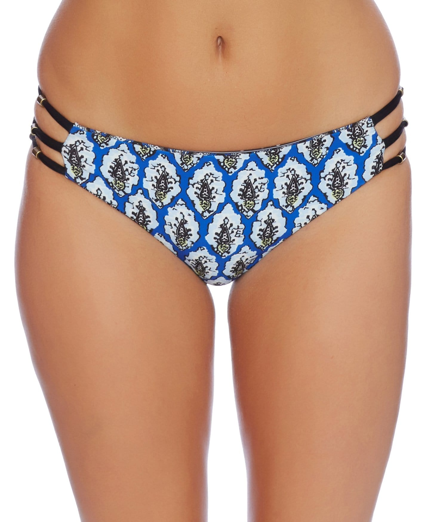 Renaissance Medallion Strap Side Bikini Bottom