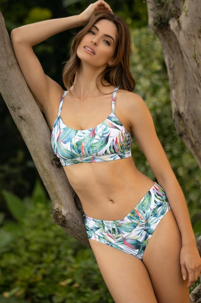 Jungle Love Downwinder  Bikini Top