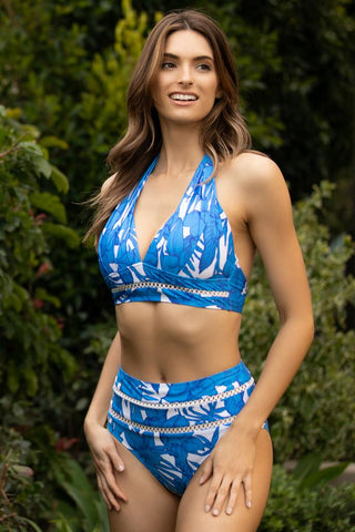 Wildflower Square Neck Bandeau Bikini Top