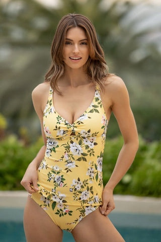 Diamond Head Solids Halter Tankini Top