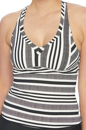Pipeline Superwoman Surplice Tankini Top