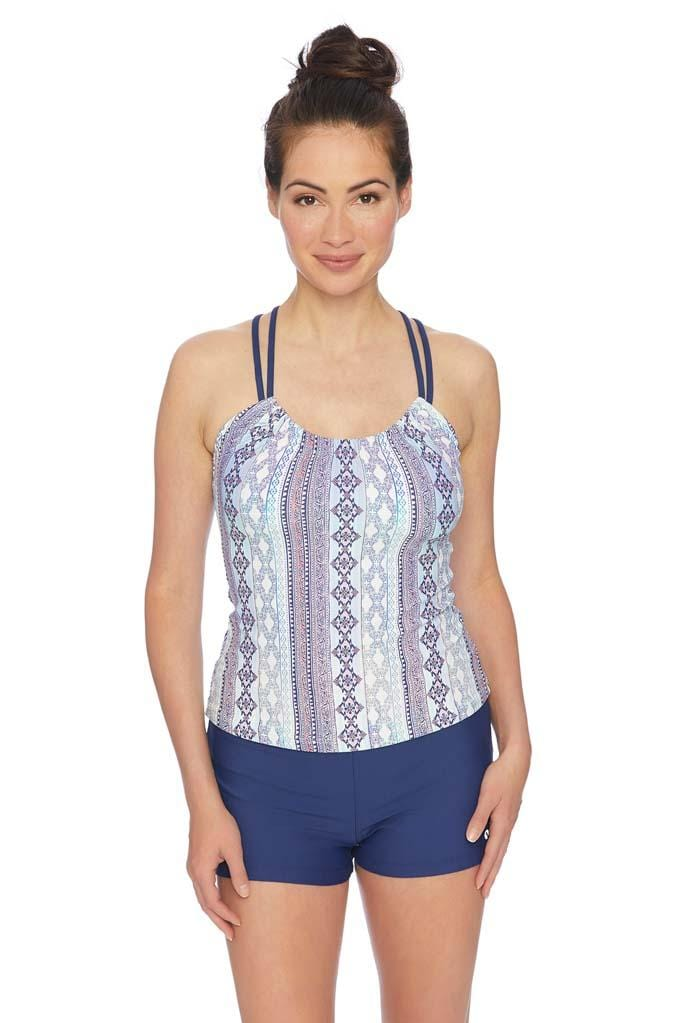 Stargazing Third Eye 3 Shirred Tankini Top