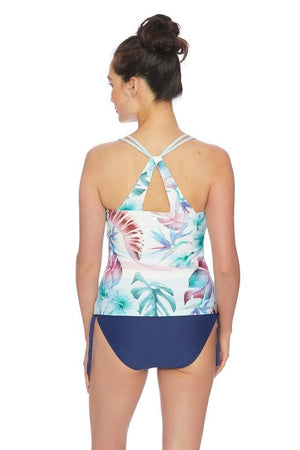 Hawaiian Dream Third Eye 3 Shirred Tankini Top