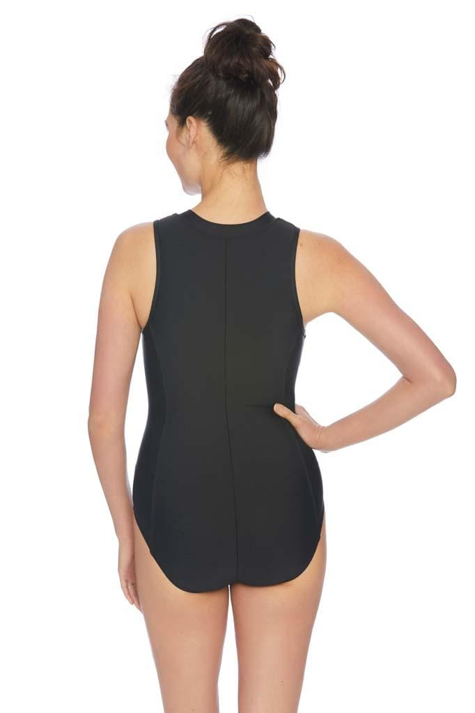 Horizon Lines Malibu Zip One Piece