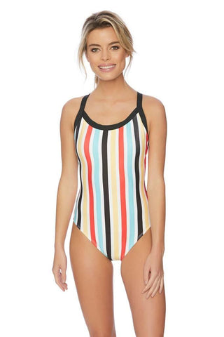 Good Karma Malibu Long Sleeve Zip One Piece