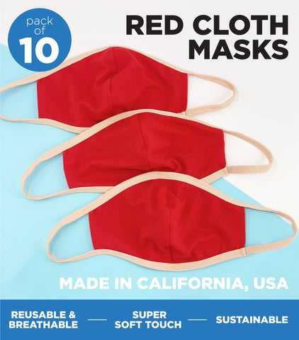 RED SOLID FACE MASK 100 PACK - FINAL SALE