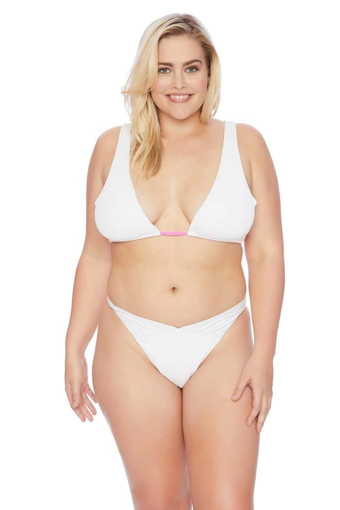 Throwback V Thong Plus Size Bikini Bottom