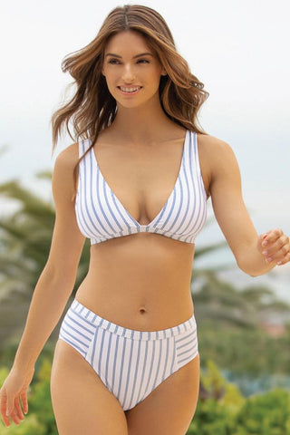 Long Lines Triangle Bikini Top
