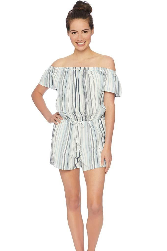 Line of Sight Off Shoulder Romper