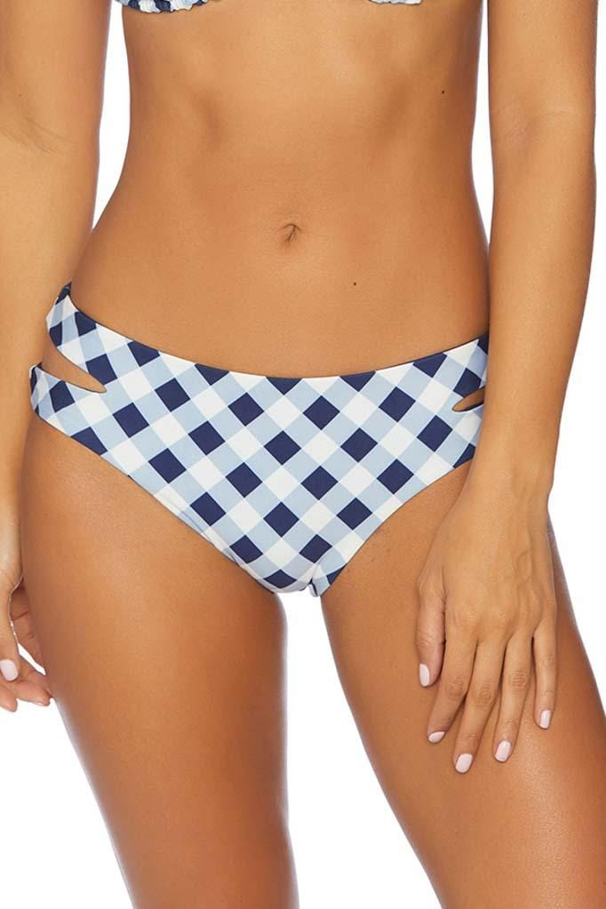 Breaking Plaid Reversible Keyhole Bikini Bottom