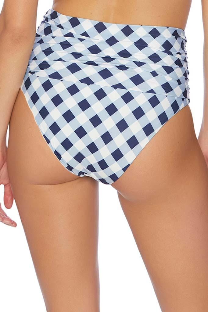 Breaking Plaid High Waist Bikini Bottom