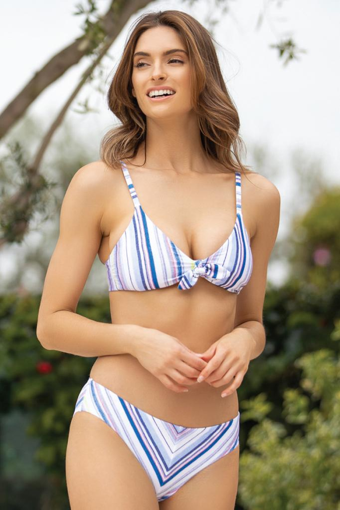 Line Of Sight Crop Bikini Top