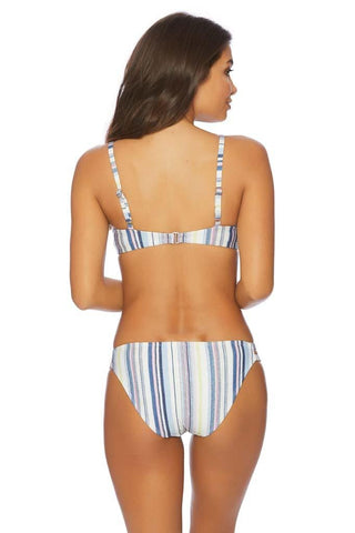 Thin Blue Line High Waist Bikini Bottom