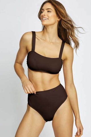 Meshed Up Molded Cup Halter Bikini Top