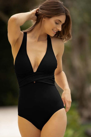 Solids Surplice Maillot
