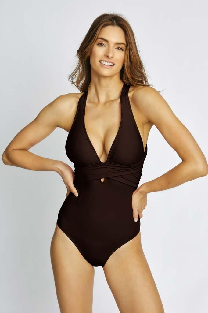 Solids Wrap Maillot