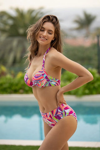 Solids Double Up Tankini Top & Mid Waist Bottom Set
