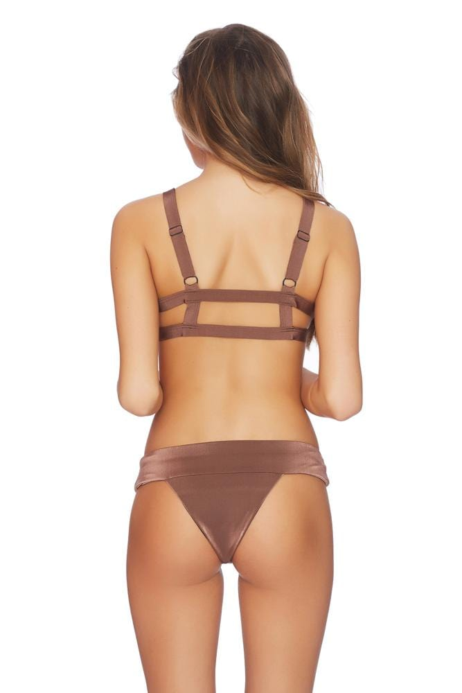 Blushing Wide Band Brazilian Bikini Bottom