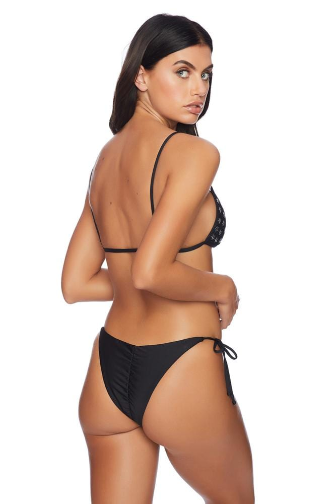 Carefree Ruched Side Tie Bikini Bottom