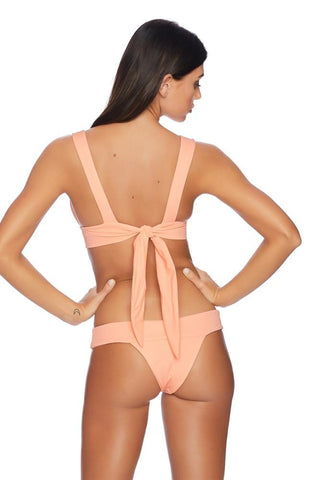Bandeau Tankini Top & Retro Bikini Bottom Set