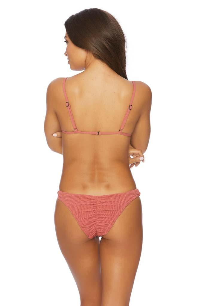 Shotgun Kiss Siren Ruched Back Basic Bikini Bottom