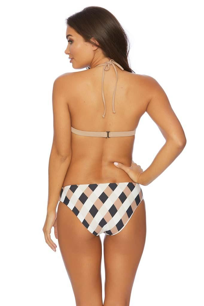 Boxed Out Set In Stone Reversible Triangle Bikini Top