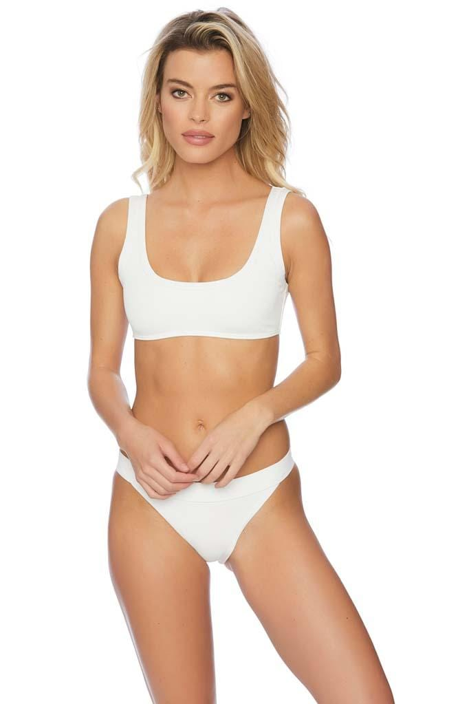 Minimale Mix Jersey Crop Top Bikini Top