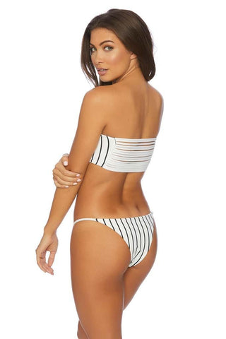 Cold Shoulder Crop Bikini Top