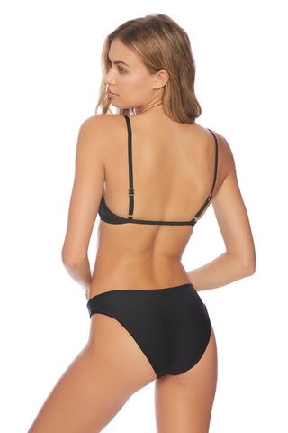 Solids Wide Strap Fixed Triangle Bra Bikini Top