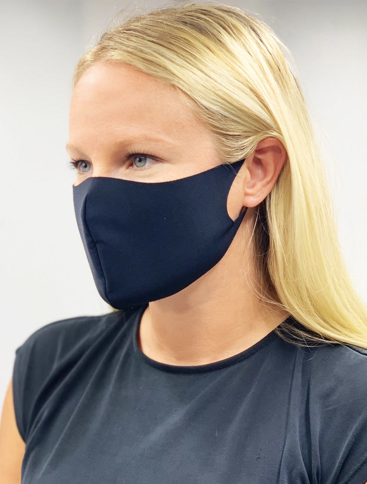 BLACK LASER CUT FACE MASK 10 PACK - FINAL SALE