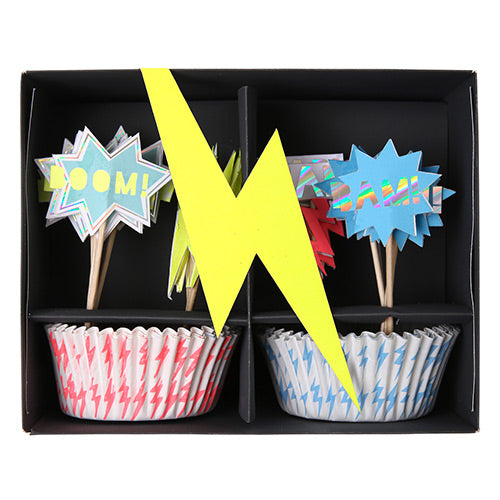 Kit para cupcakes Superhéroes