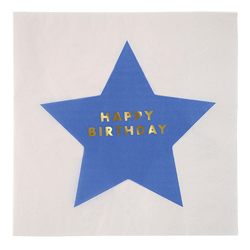 Servilletas estrellas Happy Birthday - grandes