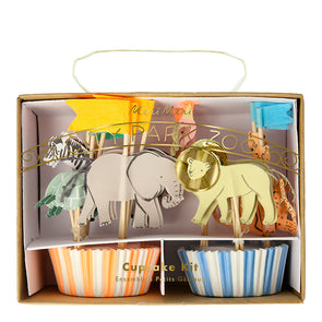 Kit para cupcakes animales de safari