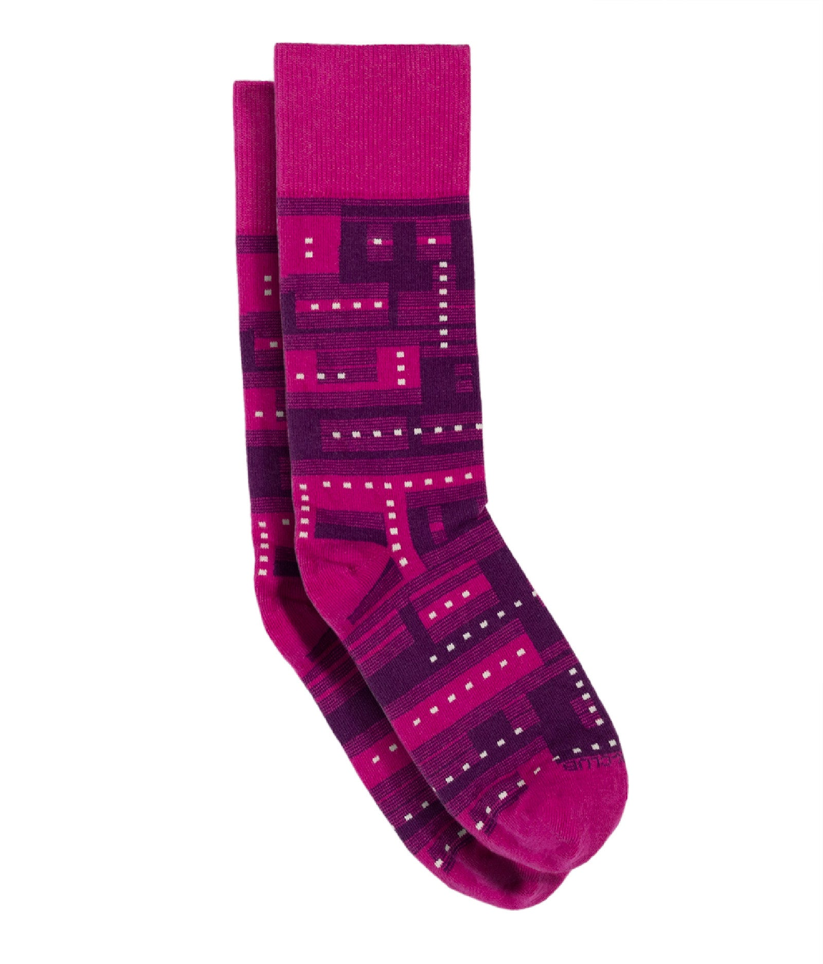 The Glitch - Deep Pink - Sock Club Store