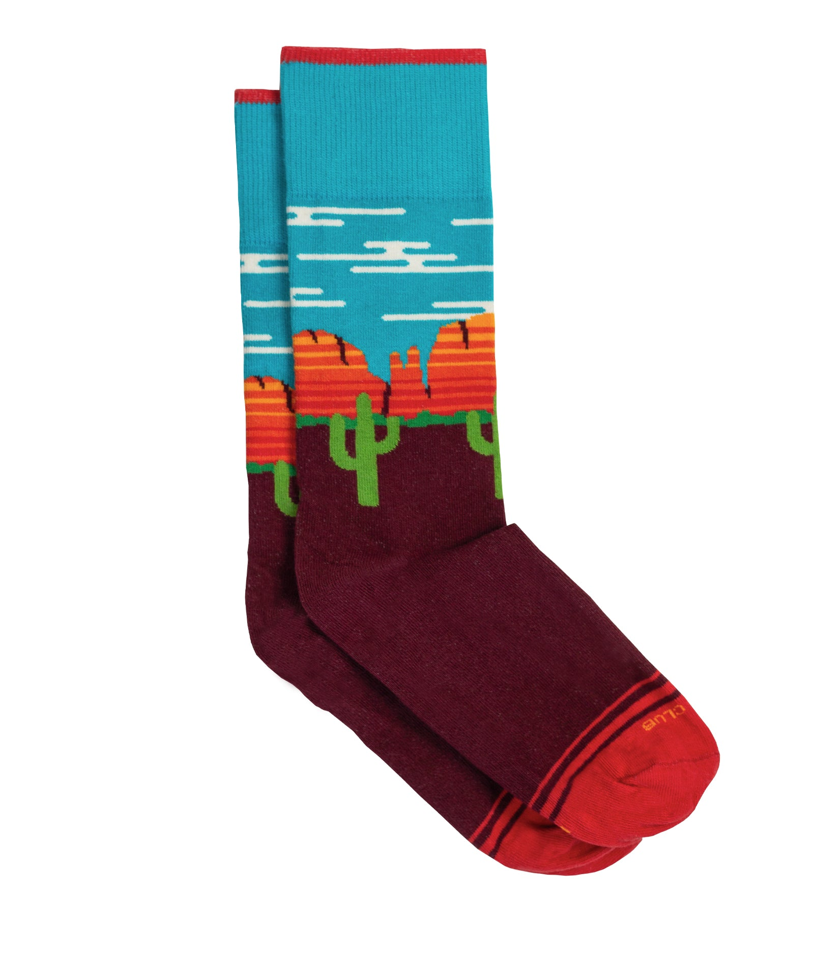 The Sedona - Maroon - Sock Club Store