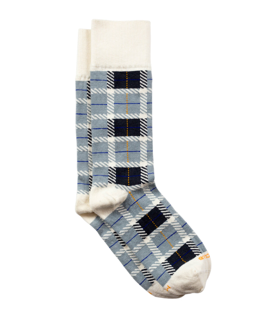 The Tartan - Charcoal - Sock Club Store