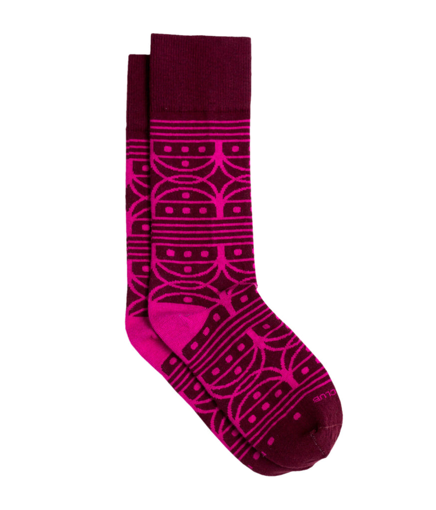 The Venn - Maroon - Sock Club Store