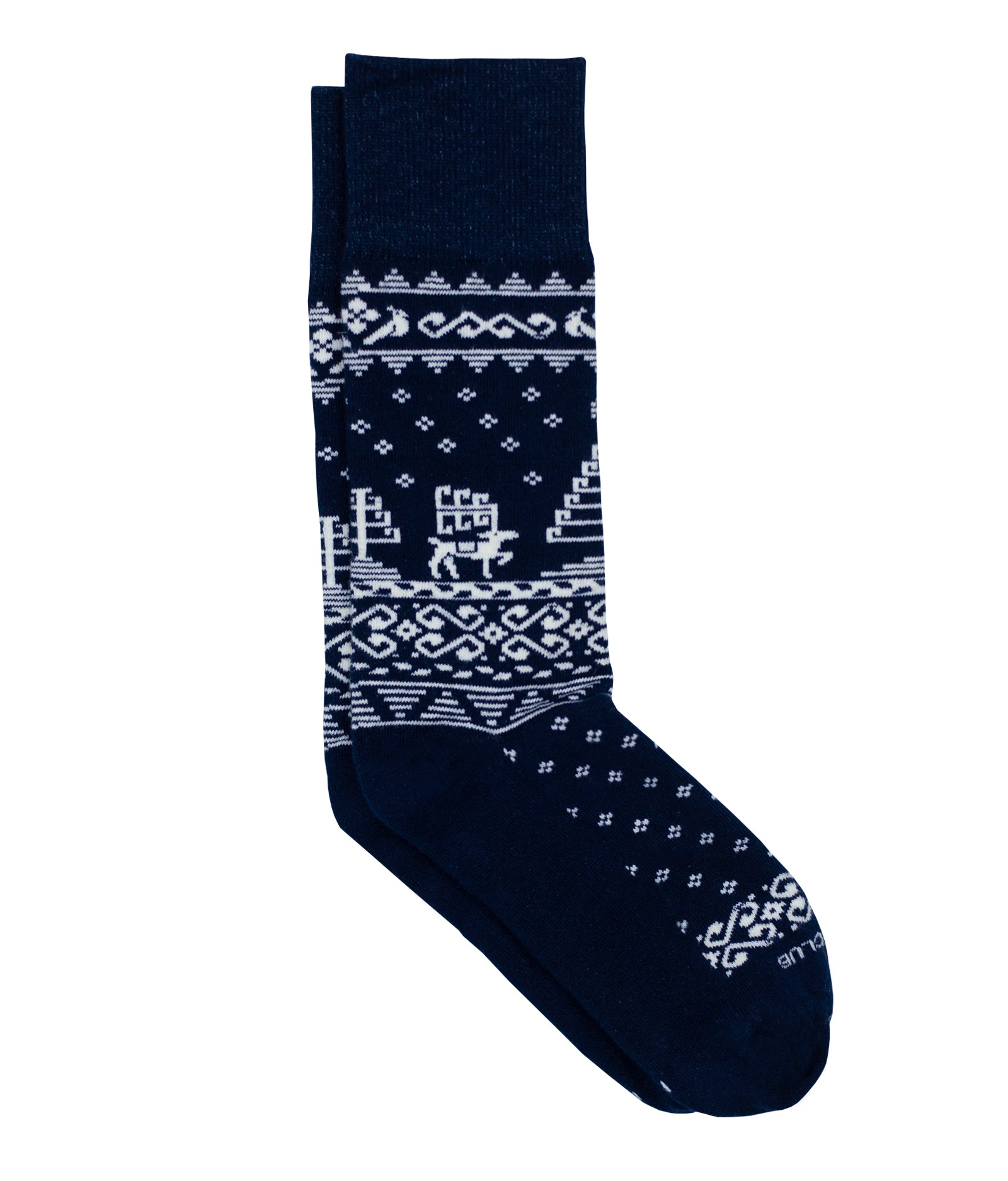 Holiday Sock - Limited Edition - Navy - Sock Club Store