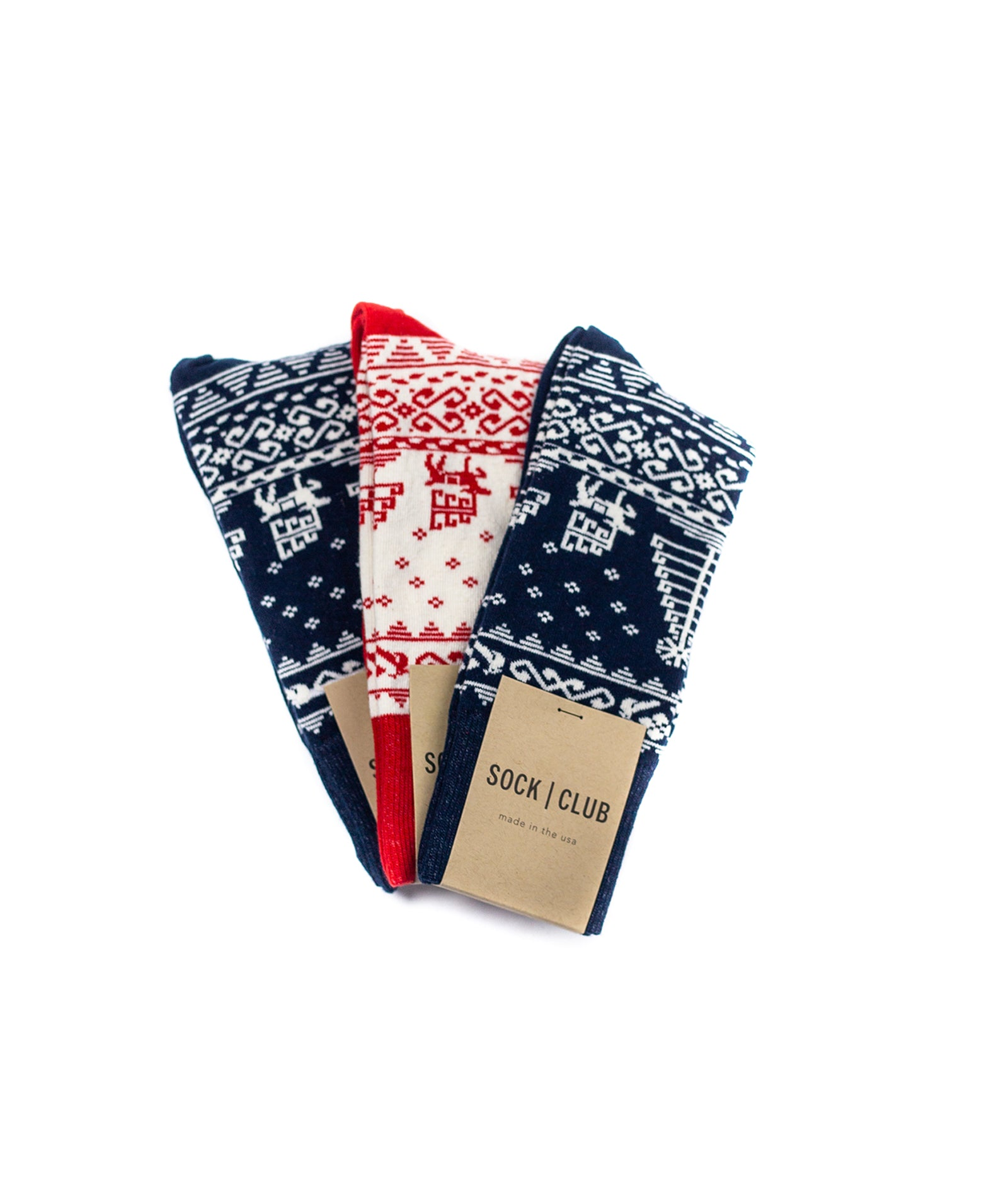 Holiday Sock - Limited Edition - Red - Sock Club Store