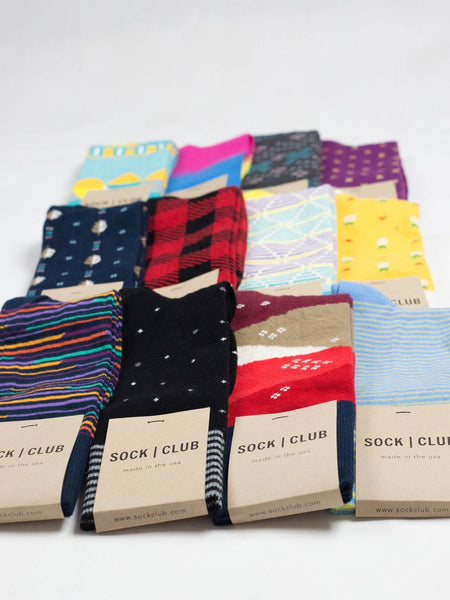 Sock Club Mystery Pack (12 Pairs) - Sock Club Store
