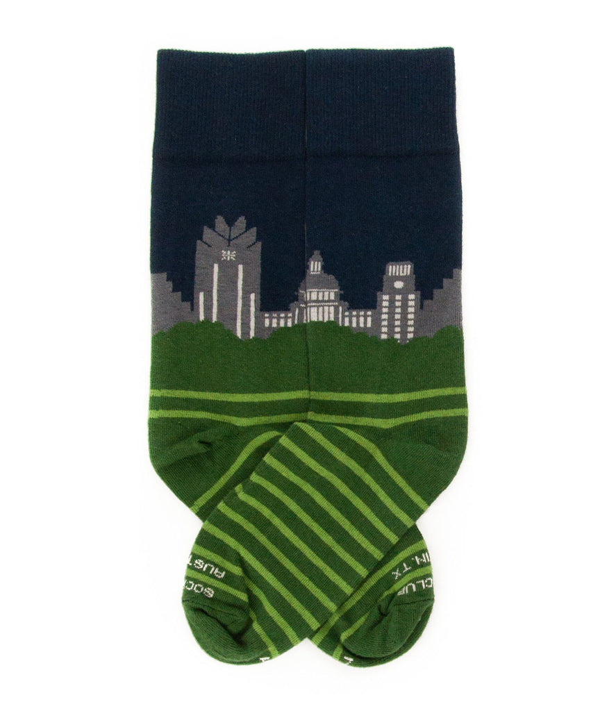 Austin Skyline (Night) - Sock Club Store