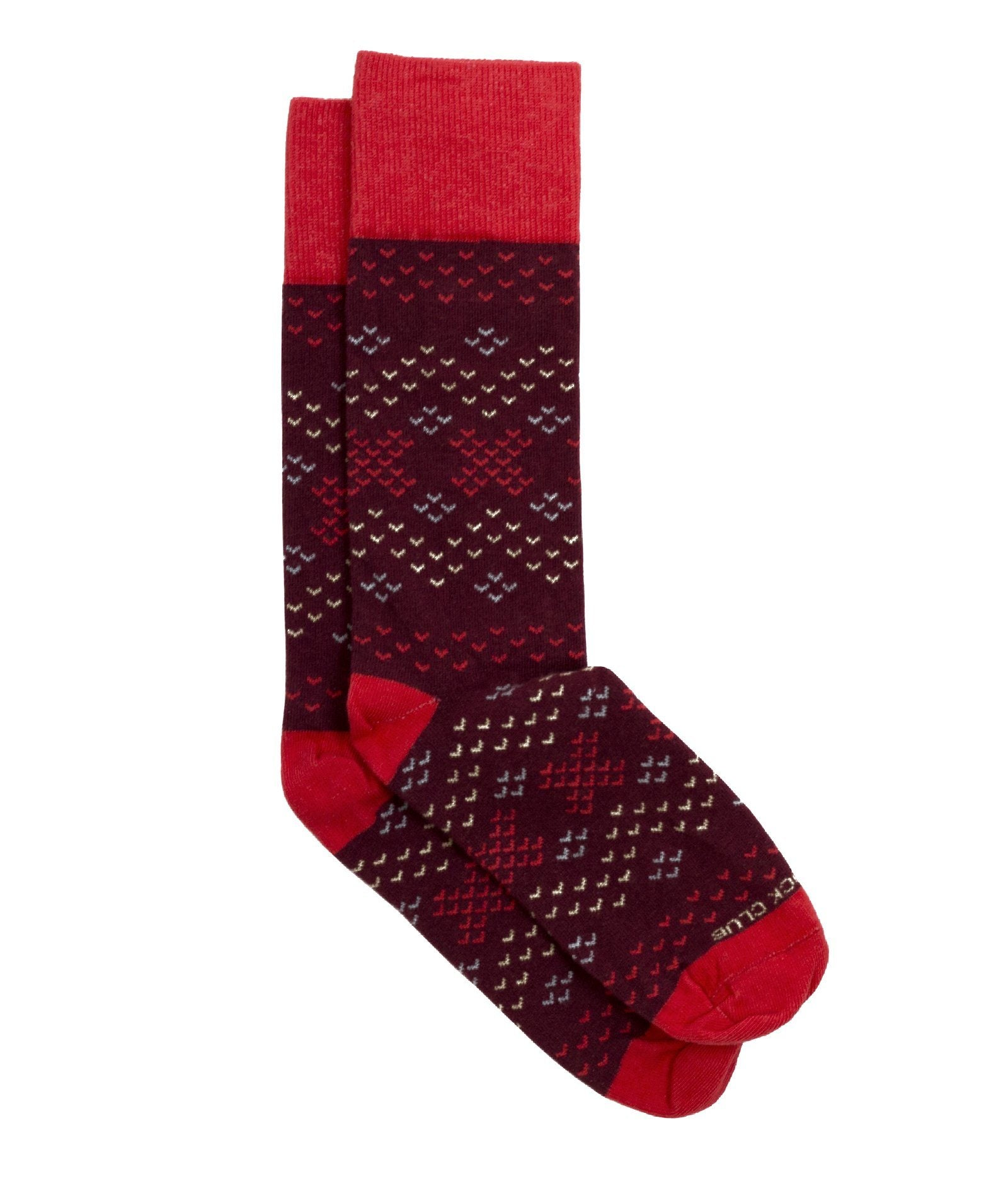 The Amelia - Maroon - Sock Club Store