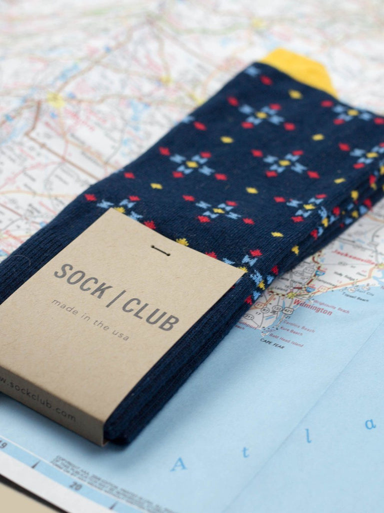 The Azimuth - Navy - Sock Club Store