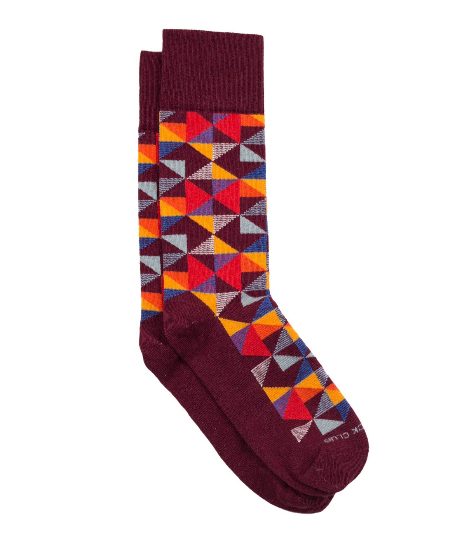 The Pinwheel - Maroon - Sock Club Store
