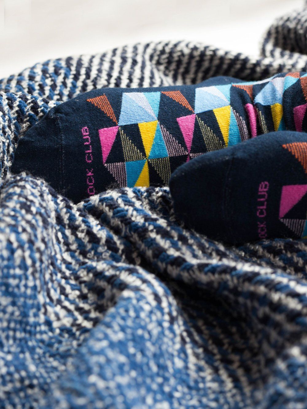 The Pinwheel - Navy - Sock Club Store