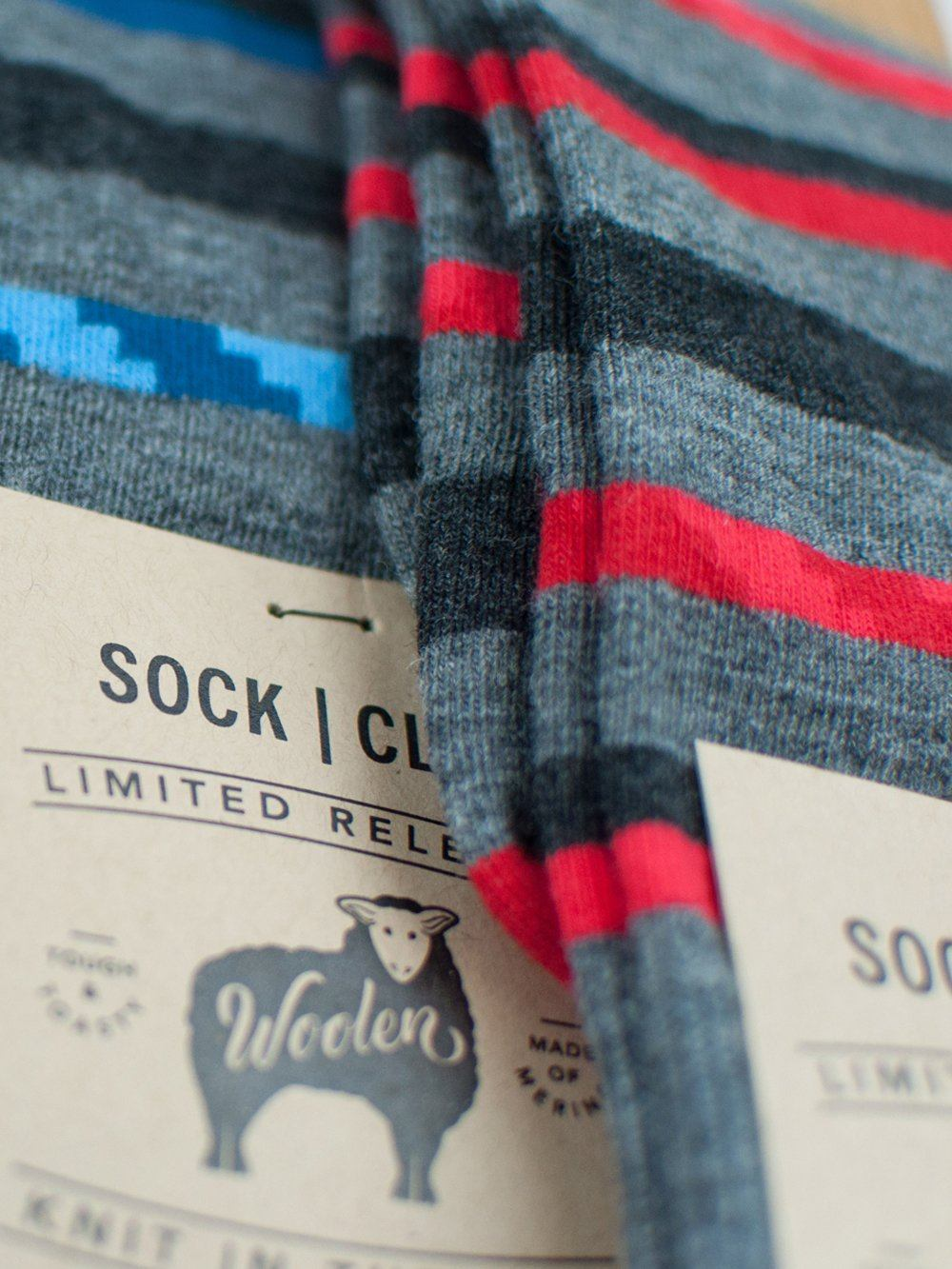 The Wool Lustre - Red - Sock Club Store